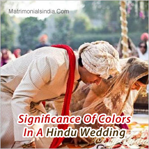 Significance Of Colors In A Hindu Wedding